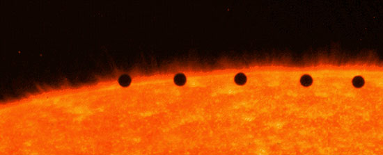 Vabljeni k ogledu prehoda Merkurja preko Sonca